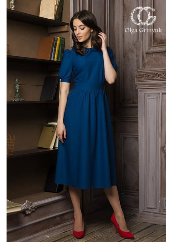 """Платье """"Матрена"""" синий цвет"""